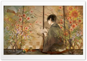 Kimono Boy HD Wide Wallpaper for Widescreen