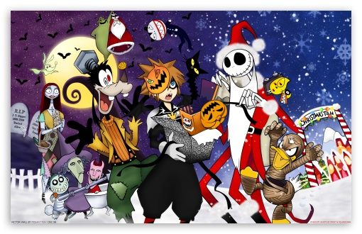 Kingdom Hearts Halloween Town HD wallpaper for Wide 16:10 5:3 Widescreen WHXGA WQXGA WUXGA WXGA WGA ; Mobile 5:3 - WGA ;