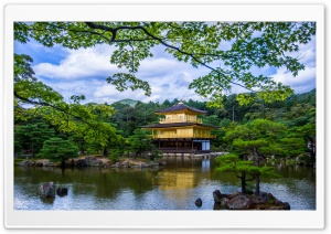 Kinkaku Ji Temple HD Wide Wallpaper for Widescreen