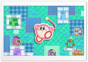 Kirby Epic Yarn HD Wide Wallpaper for Widescreen