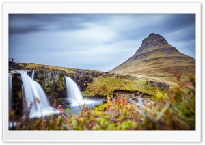 Kirkjufellsfoss Church Mountain Falls, Iceland HD Wide Wallpaper for Widescreen