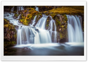 Kirkjufellsfoss waterfall, Iceland Ultra HD Wallpaper for 4K UHD Widescreen desktop, tablet & smartphone