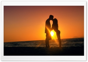 Kiss At Sunset HD Wide Wallpaper for Widescreen