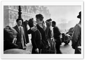 Kiss Old Photography HD Wide Wallpaper for Widescreen