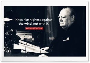 Kites rise highest against the wind HD Wide Wallpaper for Widescreen