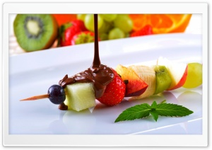 Kiwi Strawberry Chocolate HD Wide Wallpaper for Widescreen