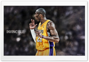 Kobe Bryant Invincible HD Wide Wallpaper for 4K UHD Widescreen desktop & smartphone