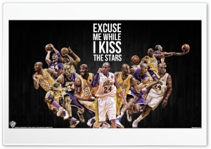 Kobe Bryant Kiss the Stars HD Wide Wallpaper for Widescreen