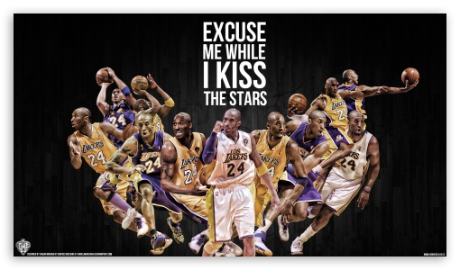 Kobe Bryant Kiss the Stars ❤ 4K UHD Wallpaper for 4K UHD 16:9 Ultra High Definition 2160p 1440p 1080p 900p 720p ; Mobile 16:9 - 2160p 1440p 1080p 900p 720p ;