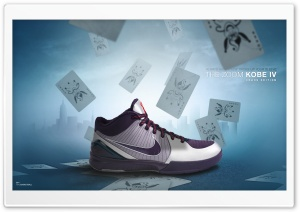 Kobe IV   Nike Basketball Sneakers HD Wide Wallpaper for 4K UHD Widescreen desktop & smartphone