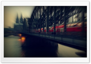 Koln Bridge Train HD Wide Wallpaper for 4K UHD Widescreen desktop & smartphone