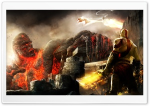 Kratos And Titan HD Wide Wallpaper for Widescreen