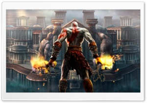 Kratos, God Of War HD Wide Wallpaper for 4K UHD Widescreen desktop & smartphone
