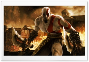 Kratos in God of War HD Wide Wallpaper for 4K UHD Widescreen desktop & smartphone