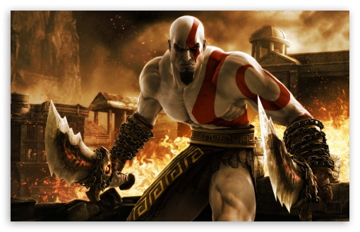 Kratos In God Of War Ultra Hd Desktop Background Wallpaper