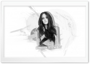 Kristen Stewart Black and White HD Wide Wallpaper for Widescreen