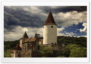 Krivoklat Castle HD Wide Wallpaper for Widescreen