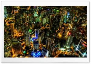 Kuala Lumpur At Night, Malaysia Ultra HD Wallpaper for 4K UHD Widescreen desktop, tablet & smartphone