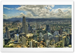 Kuala Lumpur From The Air HD Wide Wallpaper for 4K UHD Widescreen desktop & smartphone