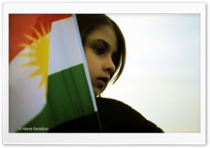 Kurdistan Flag With Sweet Baby HD Wide Wallpaper for Widescreen