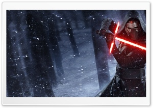 Kylo Ren Star Wars Lightsaber HD Wide Wallpaper for Widescreen