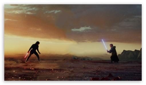 Kylo Ren Vs Luke Skywalker Ultra Hd Desktop Background Wallpaper For 4k Uhd Tv