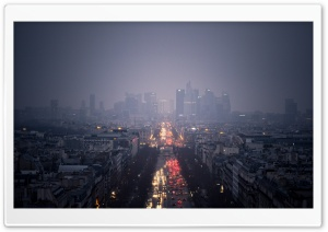 La Defense Paris HD Wide Wallpaper for Widescreen