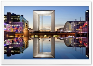La Grande Arche, La Defense, Paris, France HD Wide Wallpaper for Widescreen