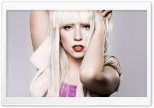 Lady Gaga Blonde Long Hair Ultra HD Wallpaper for 4K UHD Widescreen desktop, tablet & smartphone