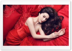 Lady In Red HD Wide Wallpaper for 4K UHD Widescreen desktop & smartphone
