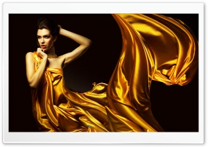 Lady in Yellow HD Wide Wallpaper for Widescreen