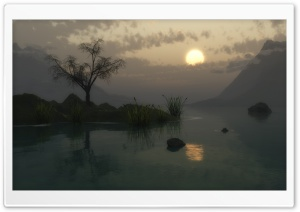Lake 3D HD Wide Wallpaper for Widescreen