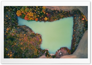 Lake Aerial View, Tuscany, Italy HD Wide Wallpaper for 4K UHD Widescreen desktop & smartphone