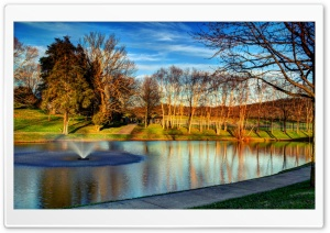 Lake at Darden Towe Park HD Wide Wallpaper for Widescreen