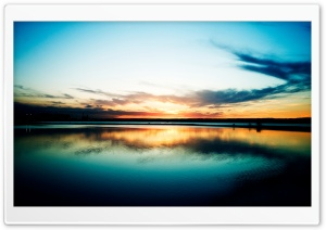 Lake At Dusk HD Wide Wallpaper for Widescreen
