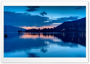 Lake At Night HD Wide Wallpaper for Widescreen