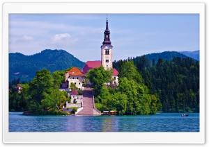 Lake Bled, Slovenia HD Wide Wallpaper for 4K UHD Widescreen desktop & smartphone