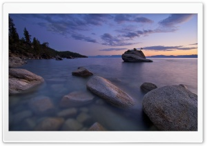 Lake Boulders HD Wide Wallpaper for Widescreen