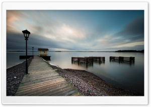 Lake Dock HD Wide Wallpaper for Widescreen