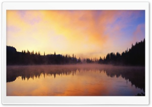 Lake Fog HD Wide Wallpaper for 4K UHD Widescreen desktop & smartphone