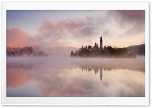 Lake Fog HD Wide Wallpaper for Widescreen