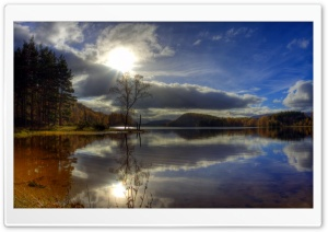 Lake HDR HD Wide Wallpaper for Widescreen