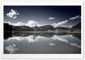 Lake In Black And White HD Wide Wallpaper for Widescreen