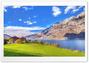 Lake in Switzerland HD Wide Wallpaper for 4K UHD Widescreen desktop & smartphone