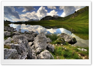 Lake In The Mountains HD Wide Wallpaper for Widescreen