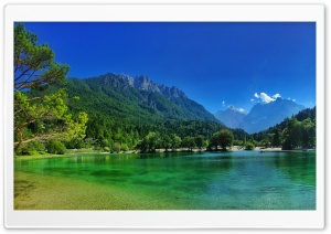 Lake Jasna - Kranjska Gora, Slovenia HD Wide Wallpaper for 4K UHD Widescreen desktop & smartphone