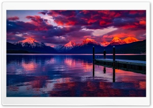 Lake McDonald, Montana HD Wide Wallpaper for Widescreen