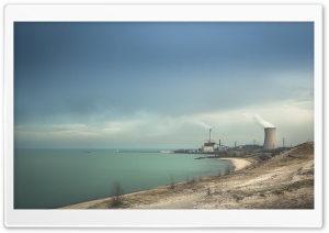 Lake Michigan, Industrial Area HD Wide Wallpaper for 4K UHD Widescreen desktop & smartphone