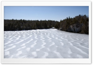 Lake Minnewaska Melting HD Wide Wallpaper for Widescreen