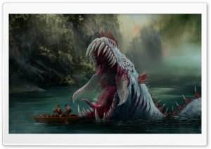 Lake Monster HD Wide Wallpaper for Widescreen